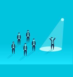 businessman in spotlight human resource vector image