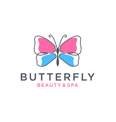 Butterfly logo design vector