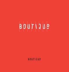 Clothing boutique logo vector