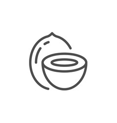 Coconut line icon vector