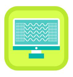 computer diagnostic element mri icon vector image