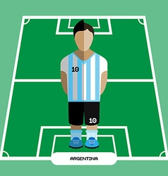Computer game Argentina Football club player vector