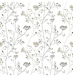 Cow parsnip seamless pattern on white backdrop vector