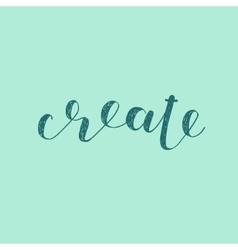 Create Brush lettering vector