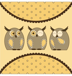 Cute Little Owls vector image