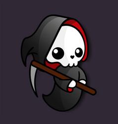 Death halloween kawaii vector