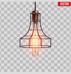 Decorative edison light bulb wire vector