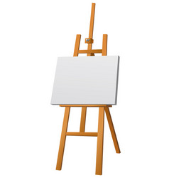 easel with canvas vector image