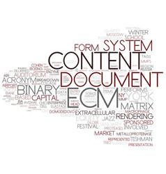 Ecm word cloud concept vector