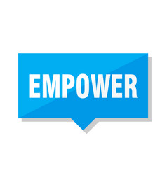 Empower price tag vector