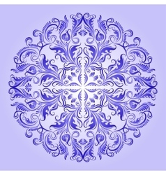 ethnic pattern of blue ornament vector image
