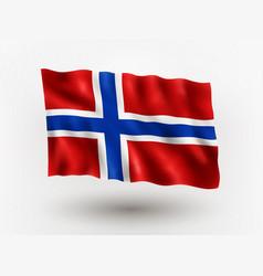 Flag norway vector