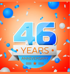 forty six years anniversary celebration vector image