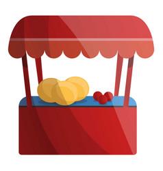 fruit kiosk icon cartoon style vector image