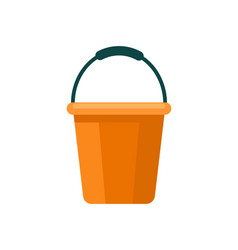 Garden plastic bucket isolated icon vector