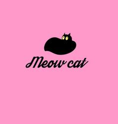 graphic symbol a cat vector image