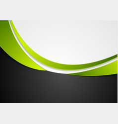 green grey and black abstract wavy background vector image