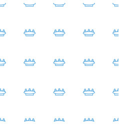 group icon pattern seamless white background vector image