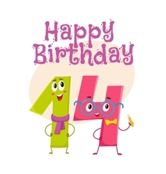 Happy birthday greeting card design with vector