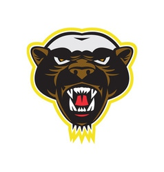Honey Badger Mascot Head vector image