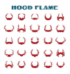 hood flame vinyl ready flames set great vector image