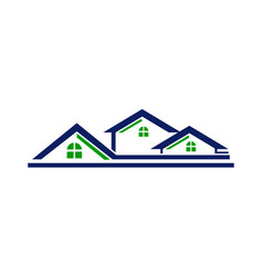 house roof line vector image