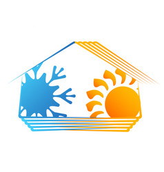 house ventilation and heating symbol vector image