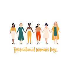 International womens day banner placard vector