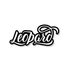 Leopard calligraphy template text for your design vector