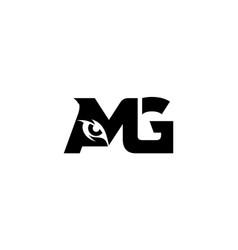 Letter amg eye monogram logo vector
