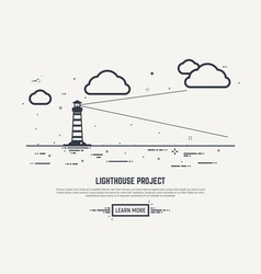 Lighthouse concept vector image
