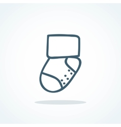 Little socks icon Children theme vector