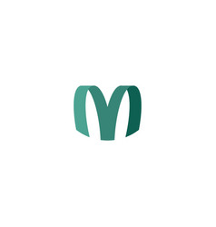 M logo letter sign element logotype symbol vector