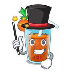 Magician sweet carrot juice isolated on mascot vector