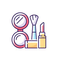makeup rgb color icon vector image