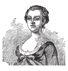 martha custis washington vintage vector image