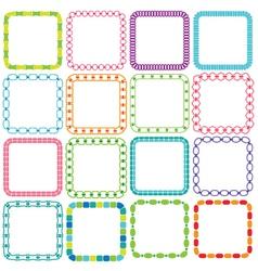 Mod square frames vector