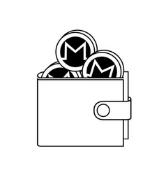 Monero wallet with coins vector