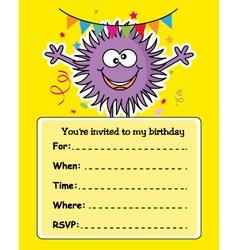 monster birthday card vector image