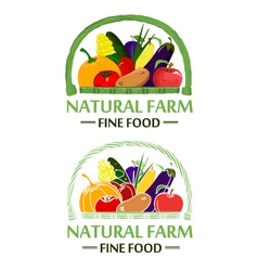 Natural farm color vector image