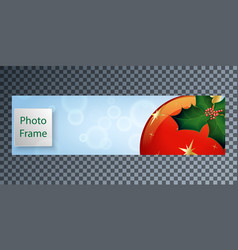 New years cover for facebook with a festive ball vector