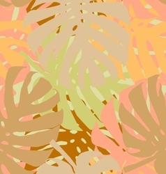 Palm leaves seamless vector