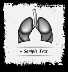 Paper art Human Lung vector image