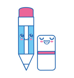 pencil kawaii cartoon vector image