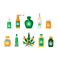 pharmacy cannabis composition vector image