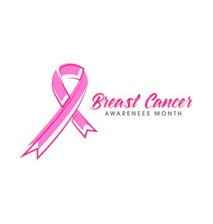 pink ribbon breast cancer icon vector image