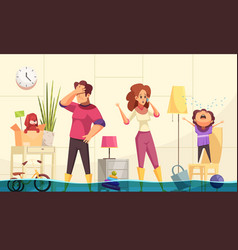 plumber flooded house vector image