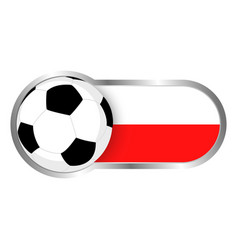 poland soccer icon vector image