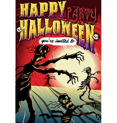 Poster Invite for Halloween Party vector