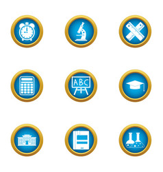 Pupillary icons set flat style vector